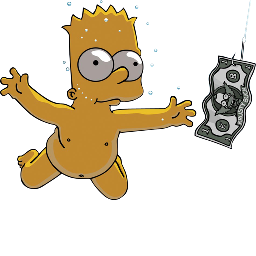 Excelent Bart, Nevermind, Nirvana, Simpson Icon Download Free