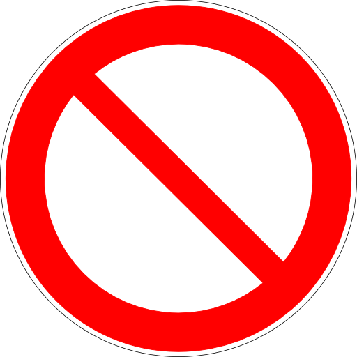 Free Icons Blank Not Allowed Sign Image