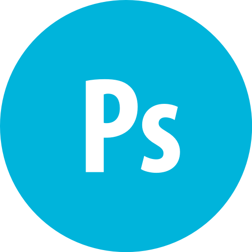 Adobe, Photoshop, Round Icon