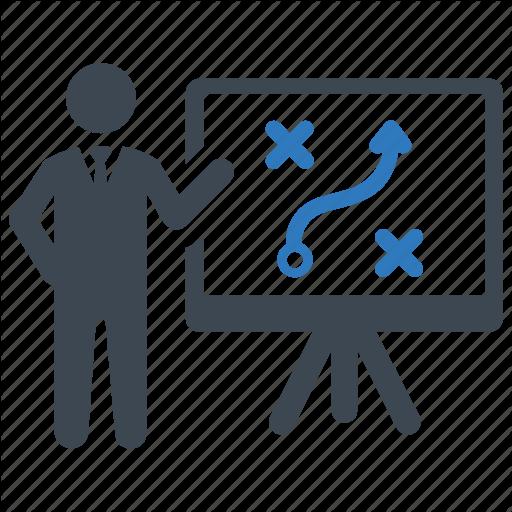 Presentation, Solution, Strategy Icon