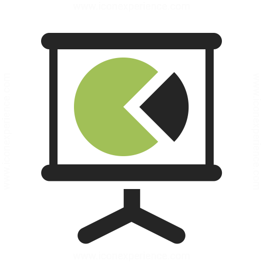 Presentation Chart Icon Iconexperience