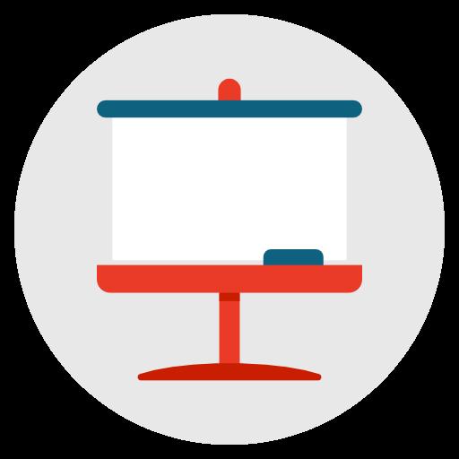Whiteboard, Presentation, Seminar, School, Teacher, Lecture Icon