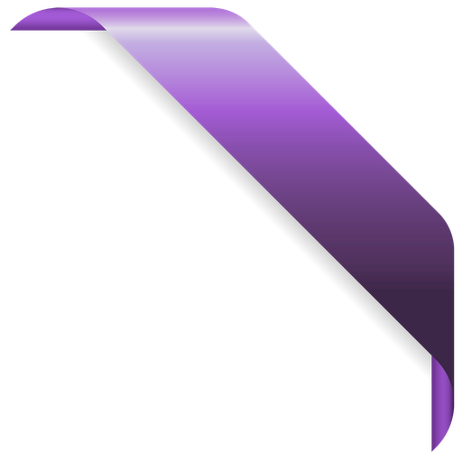 Purple Ribbon Png Bow Vector Icon
