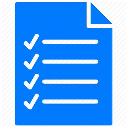 Checklist Icon Blue Blue, Checklist, Document