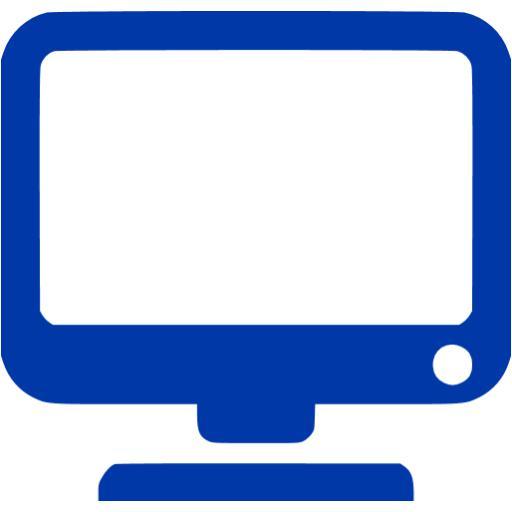 Royal Azure Blue Monitor Icon