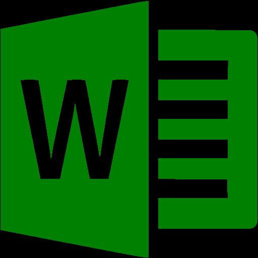 Green Microsoft Word Icon