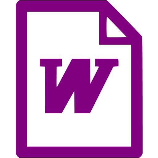Purple Word Icon