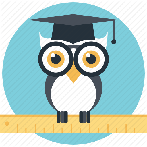Graduate Owl, Owl Education, Owl Teacher, Wisdom, Wise Owl Icon