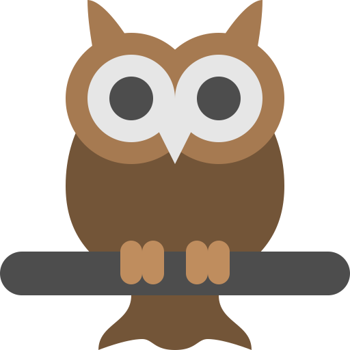 Owl Icon Flat Free Sample Iconset Squid Ink