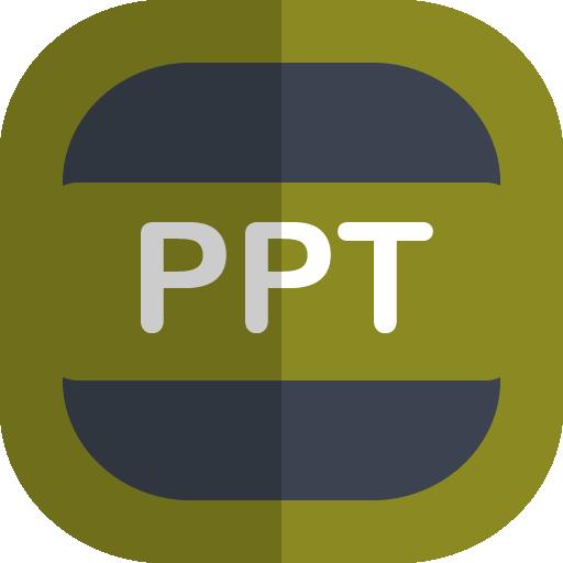 Ppt Icon Free Flat Type Iconset Uiconstock