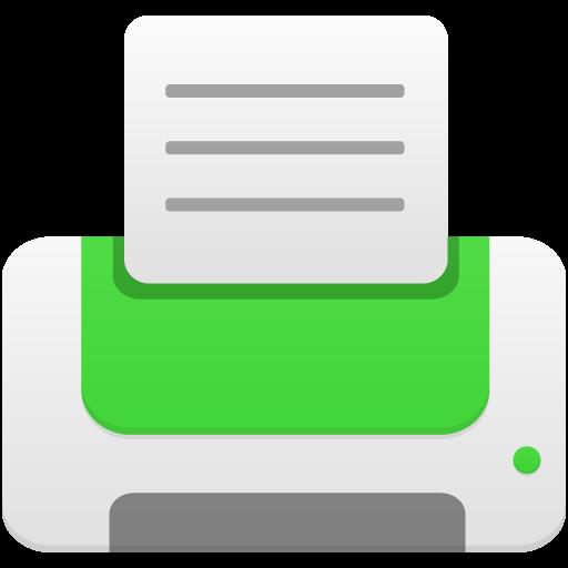 Printer Green Icon Flatastic Iconset Custom Icon Design