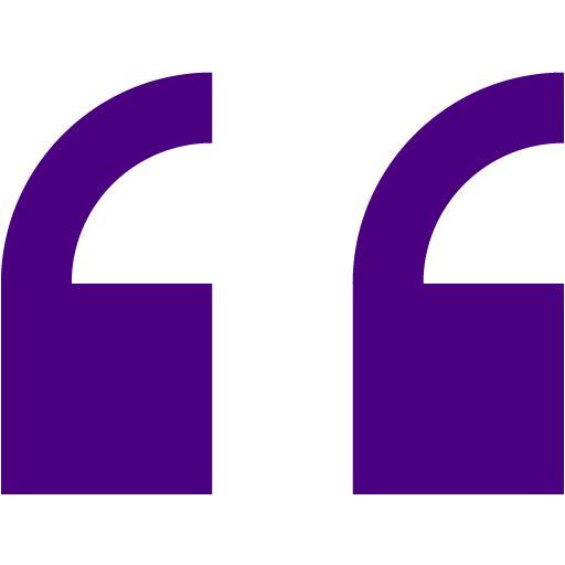 Indigo Double Quote Serif Left Icon