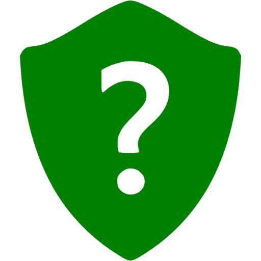 Green Question Shield Icon