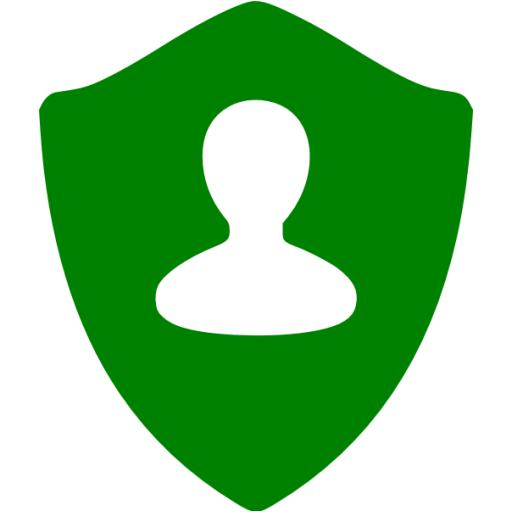 Green User Shield Icon