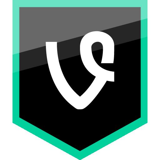 Vine Free Green Shield Icon Alfredocreates