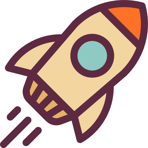 Space Ship Launch Icon