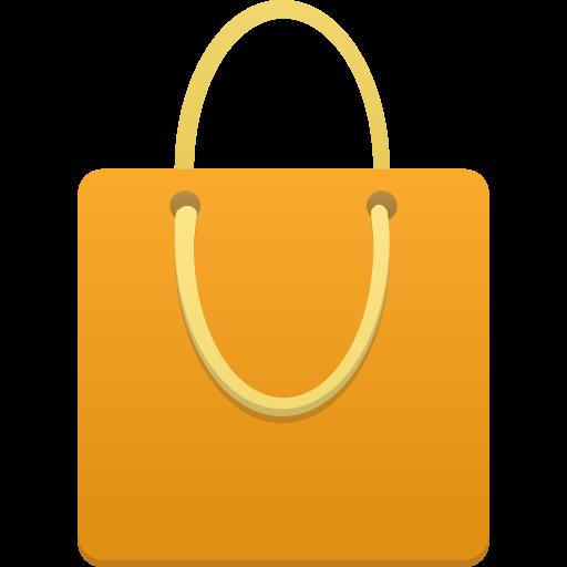 Shopping Bag Orange Icon Flatastic Iconset Custom Icon Design