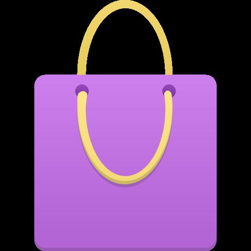 Shopping Bag Purple Icon Flatastic Iconset Custom Icon Design