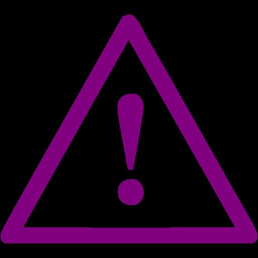 Purple Warning Icon