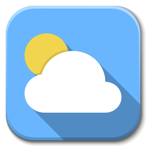 Apps Weather Icon Flatwoken Iconset Alecive