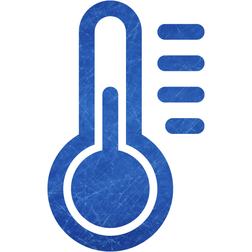 Blue And Scratched Temperature Icon