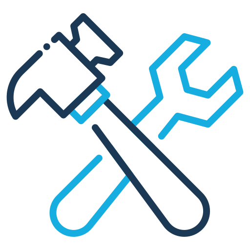 Building, Settings, Hammer, Wrench Icon Free Of Construction