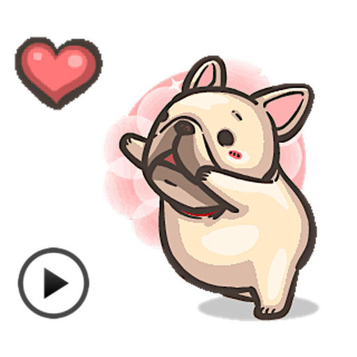 Animated Cute French Bulldog App Data Review