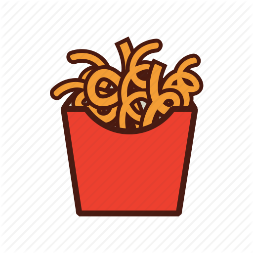 Curly Fries, Fast, Food, French Fries Icon