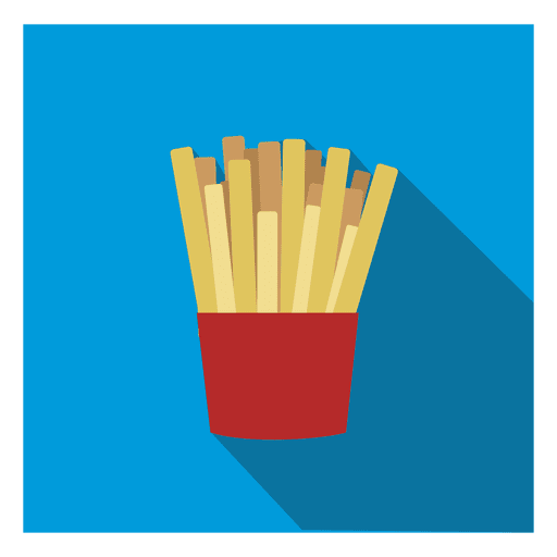 French Fries Square Icon