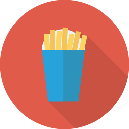 French Fries Icon Food And Drinks Dinosoftlabs