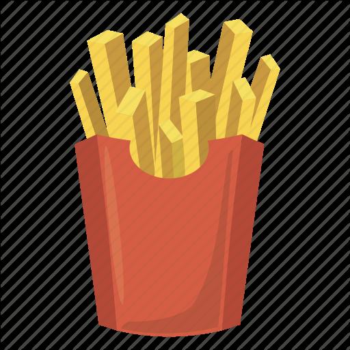 Box, Cartoon, Food, French, Fry, Paper, Potato Icon