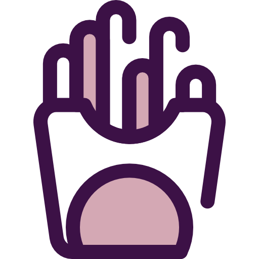 French Fries, Potatoes, Food And Restaurant Icon