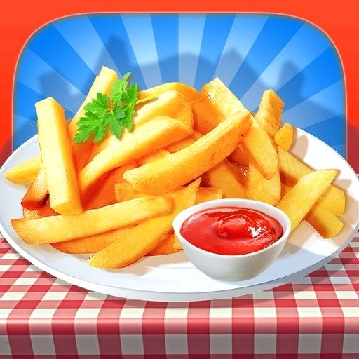 French Fries Maker Icon Fry Machine Tasty Cmelenovsky