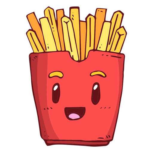 Fries Vector Illustration Transparent Png Clipart Free Download