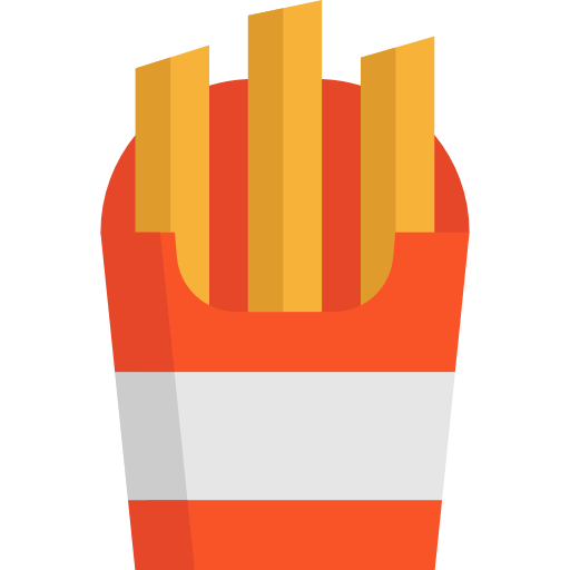 Junk Food, French Fries, Potatoes Icon