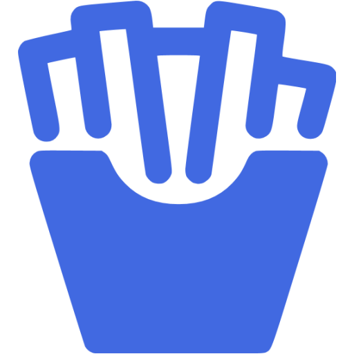 Royal Blue French Fries Icon