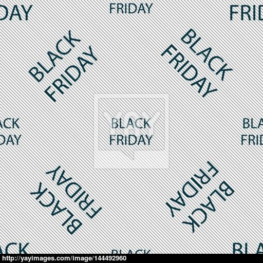 Black Friday Sign Icon Sale Symbol Special Offer Label Seamless