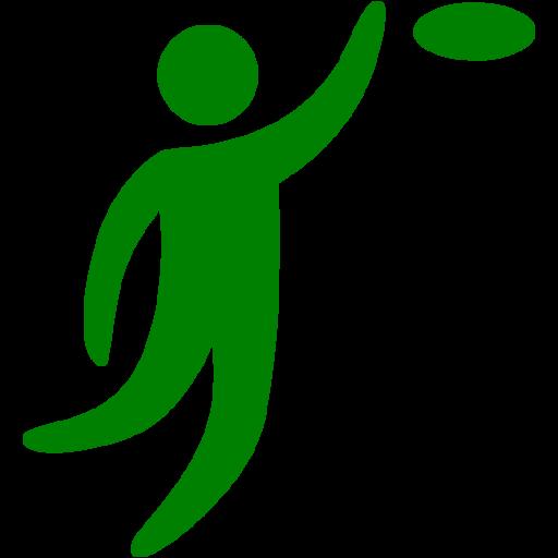 Green Frisbee Icon
