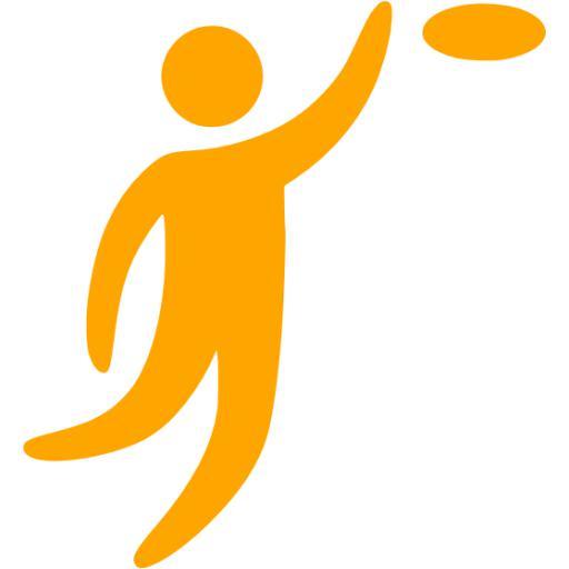 Orange Frisbee Icon