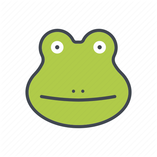 Amphibian, Animal, Cartoon, Face, Frog, Head, Wildlife Icon