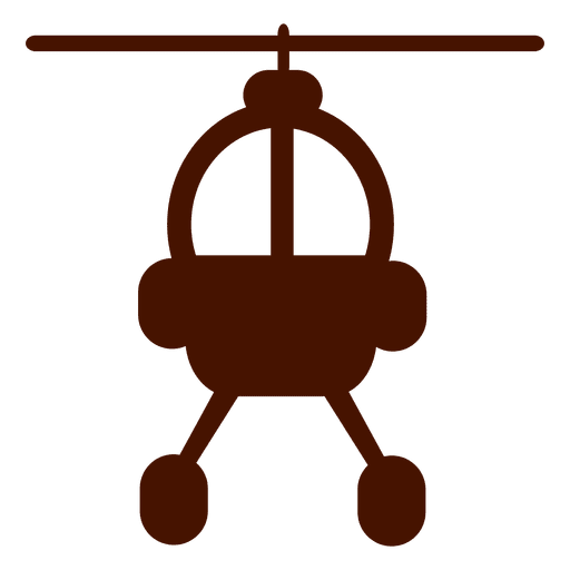 Helicopter Front Flat Icon