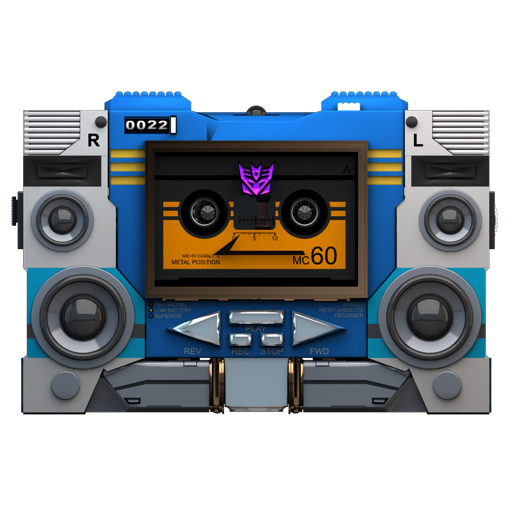 Transformers Soundwave Tape Front Icon Transformers Soundwave