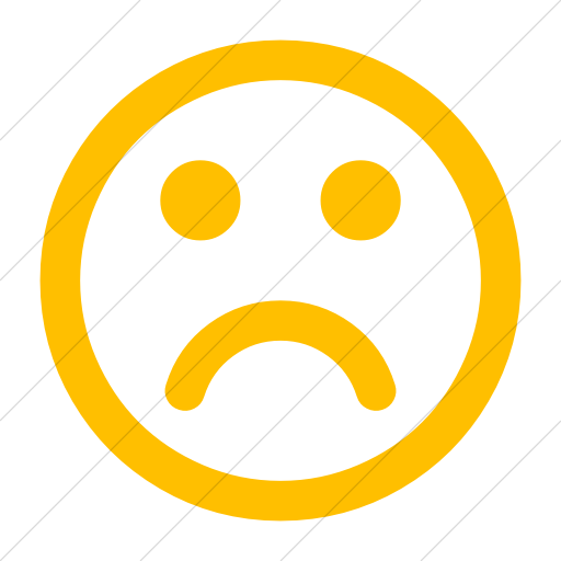 Simple Yellow Bootstrap Font Awesome Frown O Icon