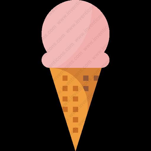 Download Ice,cream,summer,cone,foodrestaurant,frozen,food Icon
