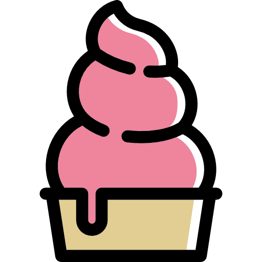 Ice Cream, Frozen Yogurt, Dessert, Sweet, Food Icon