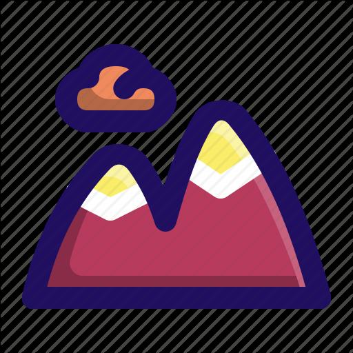 Camping, Frozen, Mountain, Mountains, Outdoors Icon