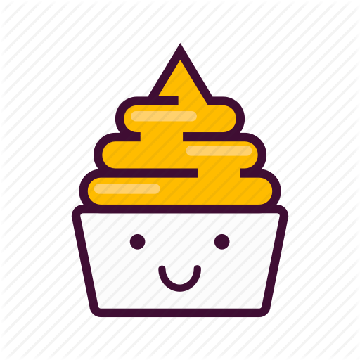 Dessert, Emoji, Expression, Frozen, Ice Cream, Smile, Yogurt Icon
