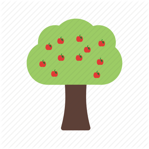 Food, Fruit, Green, Healthy, Orange, Peach, Tree Icon