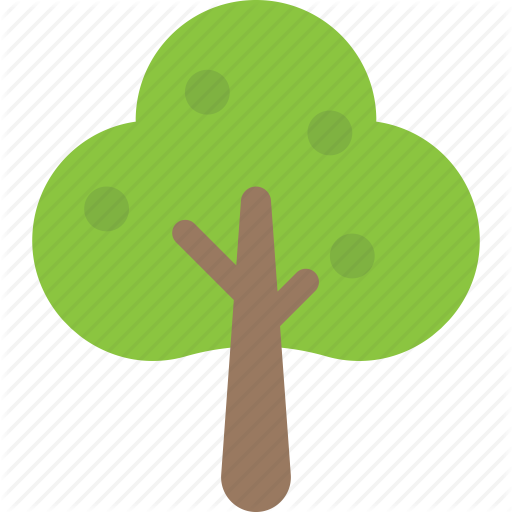 Fruit Tree, Generic Tree, Spreading Tree, Sugarberry, Woodland Icon