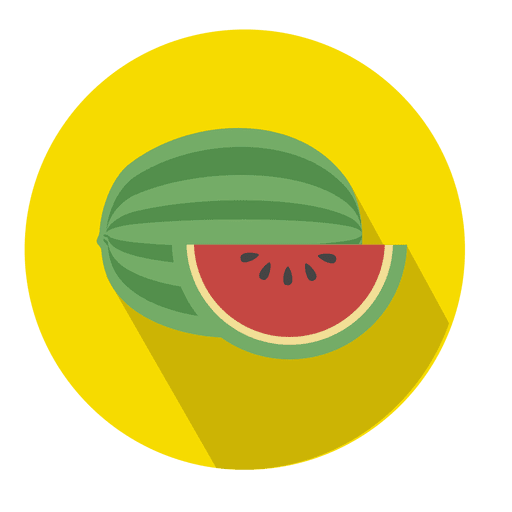 Watermelon Flat Circle Icon